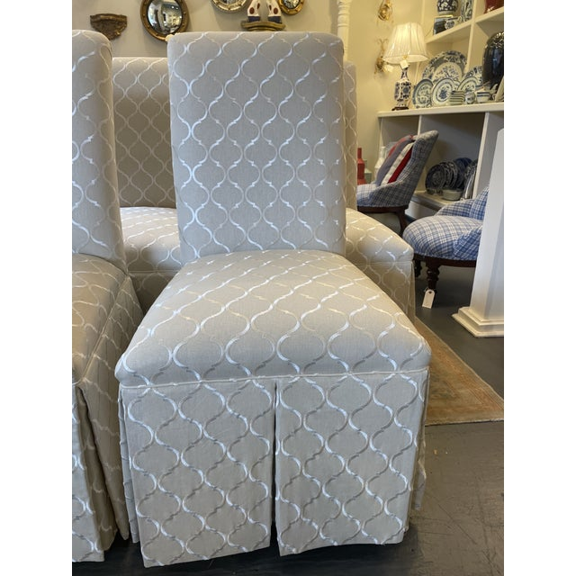 Traditional 1960s Vintage Parsons Style Slipper Chairs - Set of 4 For Sale - Image 3 of 7