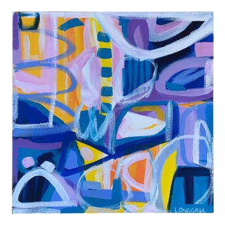 "Abstract ""Retro Lover"" Painting by Christina Longoria For Sale"