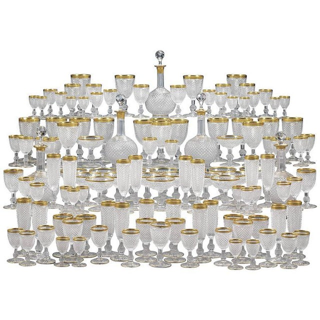 Hollywood Regency Exquisite Baccarat Service For Sale - Image 3 of 3