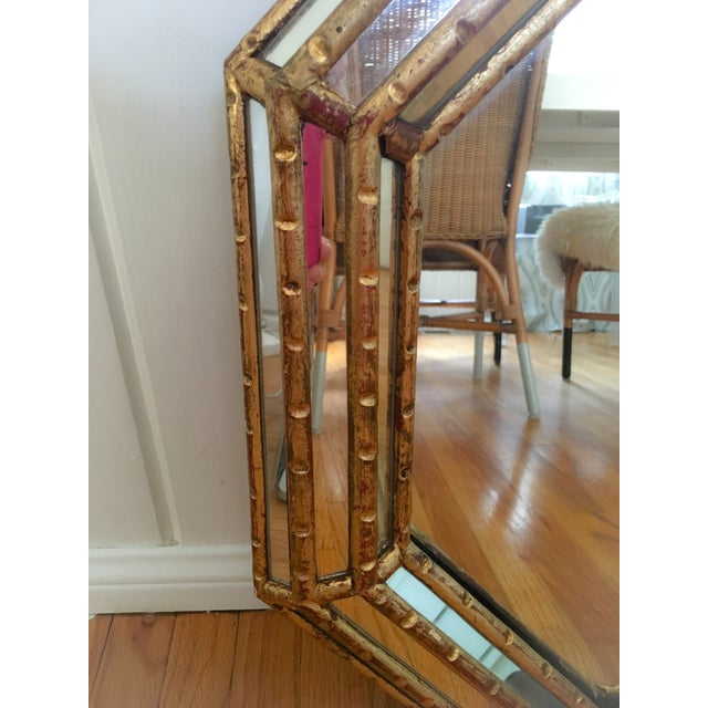 Hollywood Regency Faux Bamboo Gold Mirror - Image 6 of 11