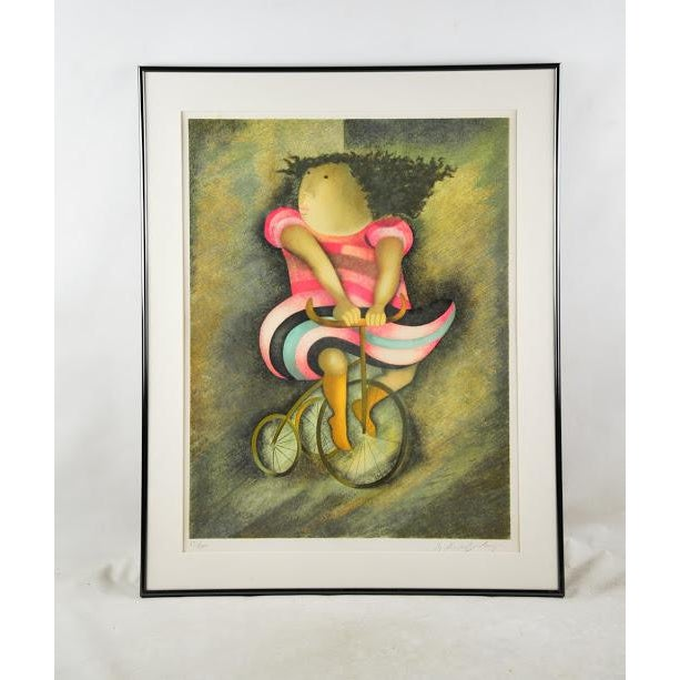 "Limited Lithograph ""Girl on Tricycle"" by Graciela Rodo Boulanger - Image 2 of 8"