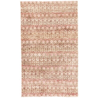 Jaipur Living Cane Hand-Knotted Geometric Brown/ Red Area Rug - 2′ × 3′ For Sale