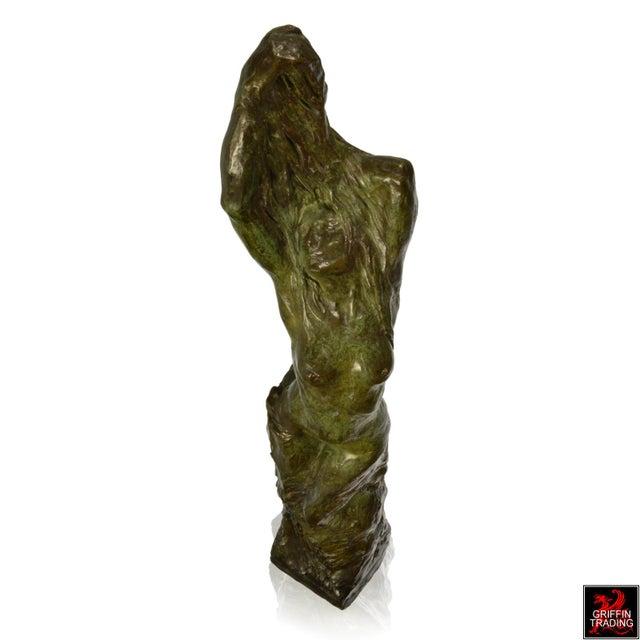 Female Nude Bronze Sculpture by Edouard Vereycken, circa 1925 For Sale In Dallas - Image 6 of 10