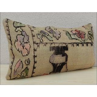 Turkish Lumbar Aubusson Kilim Pillow Preview