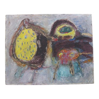 Asger Jorn Karel Appel Style CoBrA School Abstract Bird Mixed Media Painting For Sale