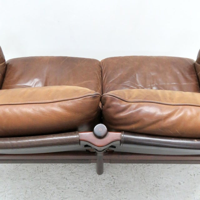 1960's Vintage 'Ilona' by Arne Norell Leather Settee For Sale - Image 10 of 13