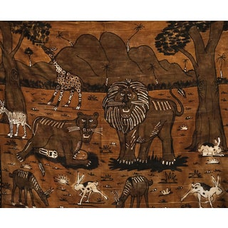 """African Mud Cloth Textile Mali 88"""" by 74"""" For Sale"""