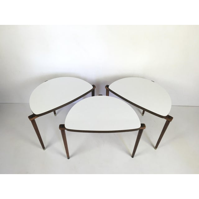 Mid-Century Modern Nesting Tables Half Moon - S/3 For Sale In Buffalo - Image 6 of 8