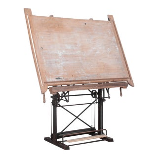 1930s Belgian Drawing Table For Sale