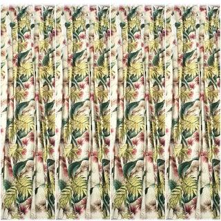 Mid-Century Modern Barkcloth Drapes - Set of 4 For Sale