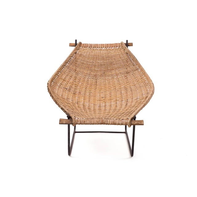 John Risley Wicker and Iron Chaise For Sale In Phoenix - Image 6 of 7