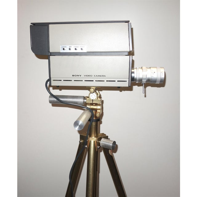 Metal Sony Vintage Vidicon Industrial Video Camera Circa 1969-70 Complete With Tripod. ON SALE For Sale - Image 7 of 11