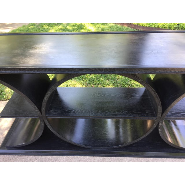 Asian Modern Vanguard Furniture Black Entertainment Console Table For Sale In Dallas - Image 6 of 8