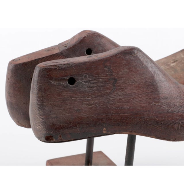 Vintage Wood Shoe Form Molds on Stand - a Pair - Image 5 of 6