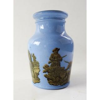 Antique 1856 English Blue Porcelain Prattware Jar Preview