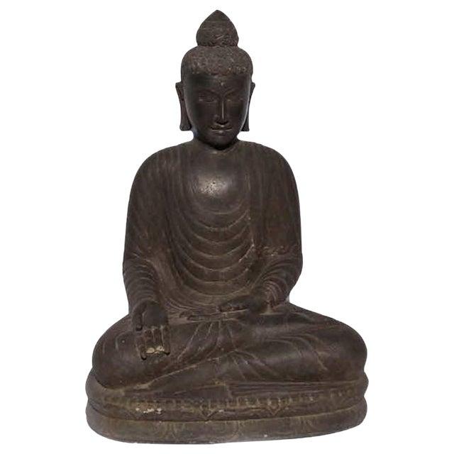 Stone carved garden buddha statue chairish stone carved garden buddha statue workwithnaturefo