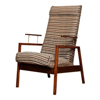 Vintage Mid-Century Hi-Back American Chair For Sale