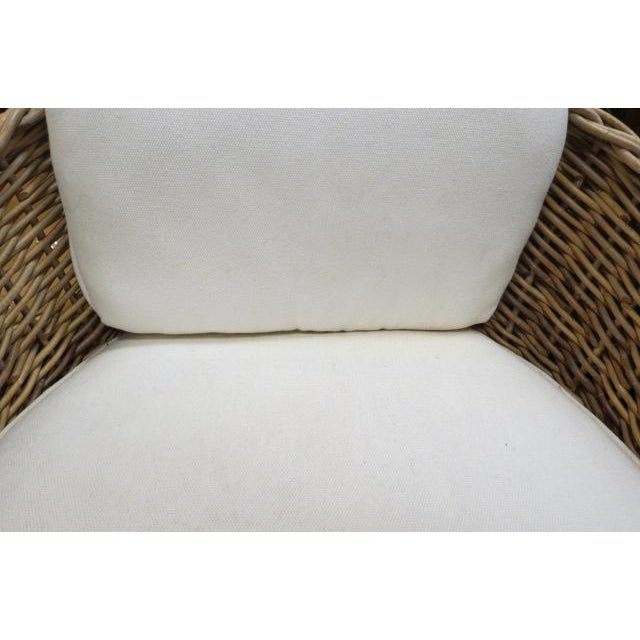 Vintage Boho Chic. Wicker Dining Set With Marble Top - 5 Pieces For Sale In Chicago - Image 6 of 8