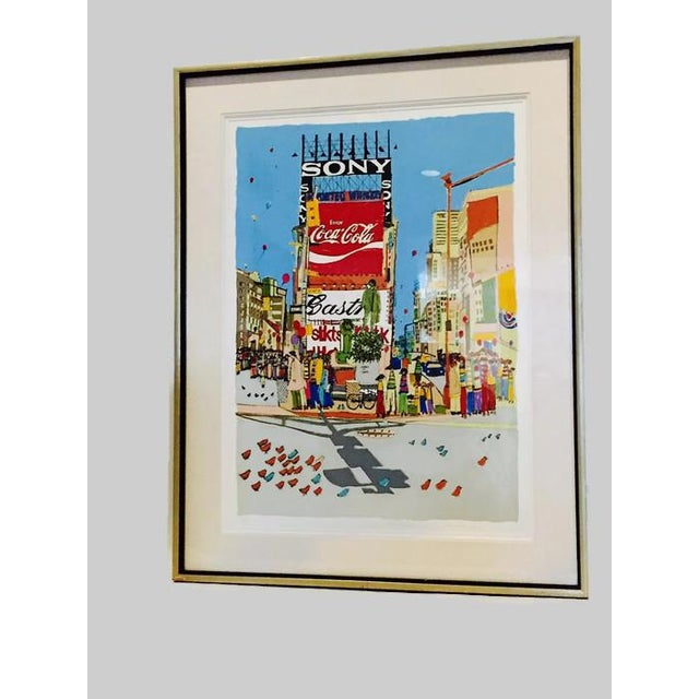 "1977 Vintage Susan Pear Meisel ""Times Square"" Limited Edition Print For Sale - Image 11 of 11"