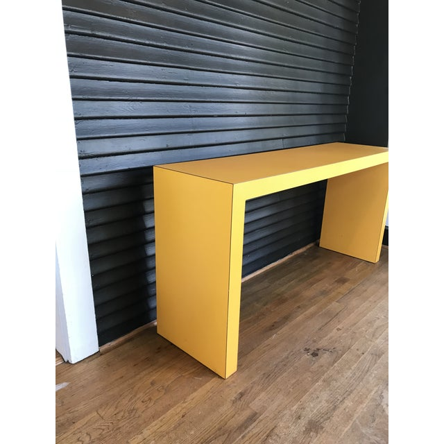 Mid-Century Modern 1960s Contemporary Tangerine Console For Sale - Image 3 of 4