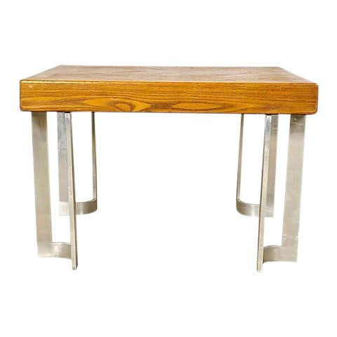 1970s Aluminum Base Coffee Table - Image 1 of 5
