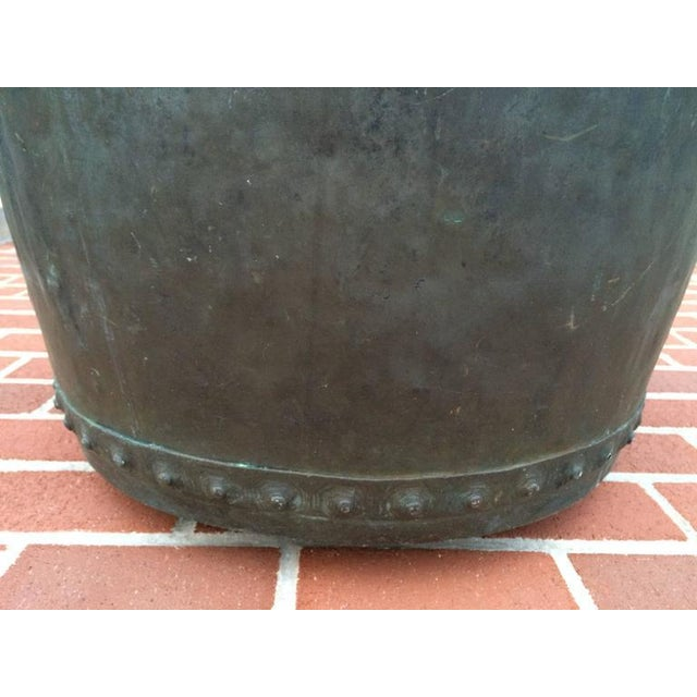 Large Early 19th Century Riveted Copper Log Holder For Sale - Image 4 of 11