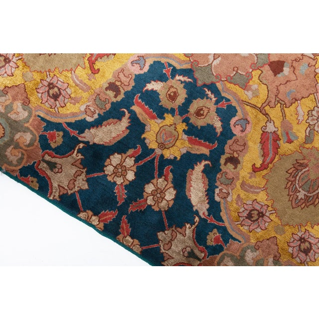 Agra Carpet in Wool & Silk For Sale - Image 6 of 11