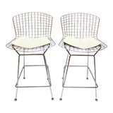 Image of Bertoia Barstools by Harry Bertoia for Knoll - a Pair For Sale