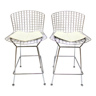 Bertoia Barstools by Harry Bertoia for Knoll - a Pair For Sale