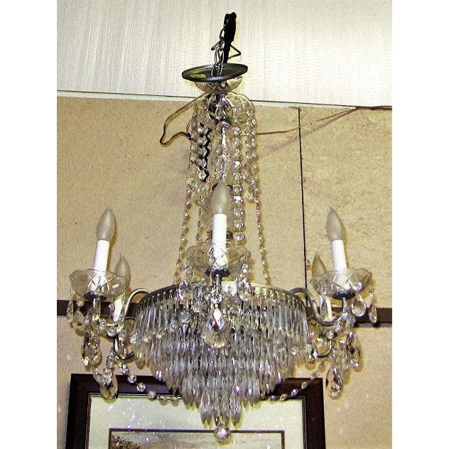 Vintage Schonbek Crystal 6 Arm Chandelier For Sale - Image 9 of 9