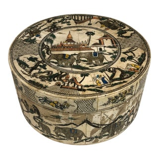 Vintage Decorative Bone Inlay Box For Sale