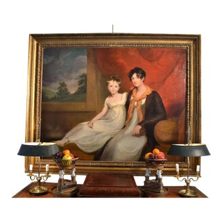 Early 19th Century Portrait of Mrs. Spencer Cooper And Her Daughter For Sale