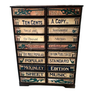 1920s Era Sheet Music Cabinet For Sale