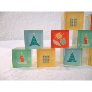 1970s Christmas Acrylic Placecard Holders - Set of 16 Preview