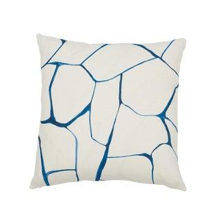 Contemporary Schumacher X Porter Teleo Filigree Pillow in Navy For Sale