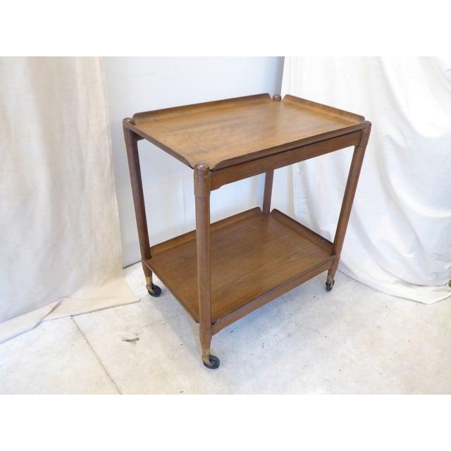 Modern Vintage Modern John Stuart Hardwood Side Table For Sale - Image 3 of 8