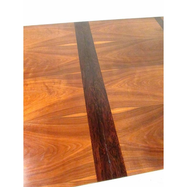 Mid-Century Modern Mid-Century Rosewood Inlay Dining Table For Sale - Image 3 of 8