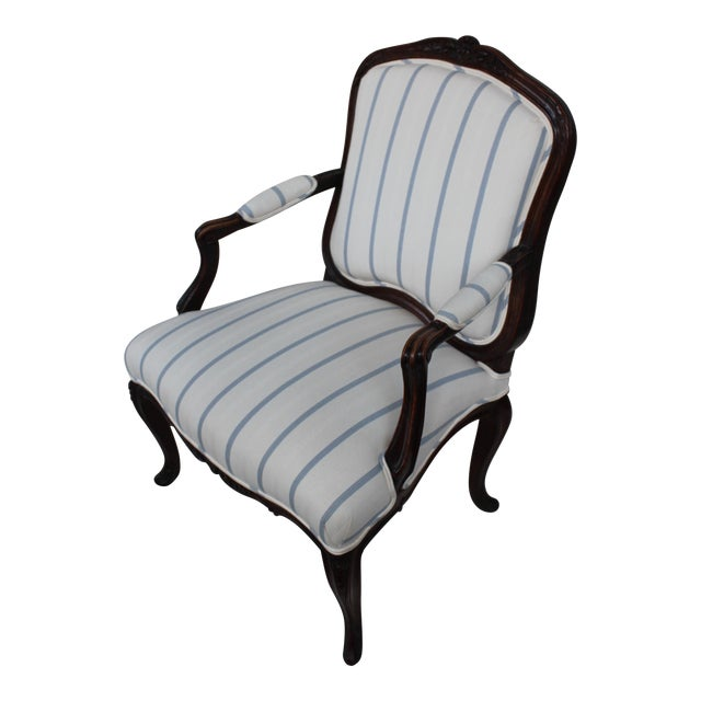 Antique Louis XV Style Fauteuil Chair - Image 1 of 9