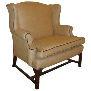 Mid-Century Settee Marquis Chair in New Fabric For Sale