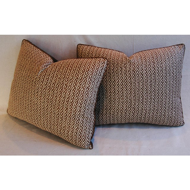 Italian Mariano Fortuny Tapa Feather & Down Pillows - A Pair - Image 8 of 10