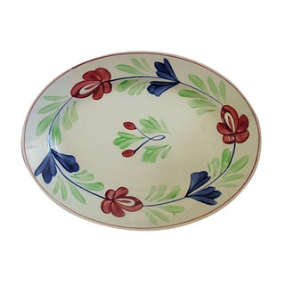 Early 20th-C. English Sponge Ware Platter