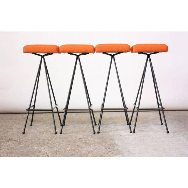 Craft Associates Set of Four Adrian Pearsall #11 Iron Barstools For Sale - Image 4 of 11