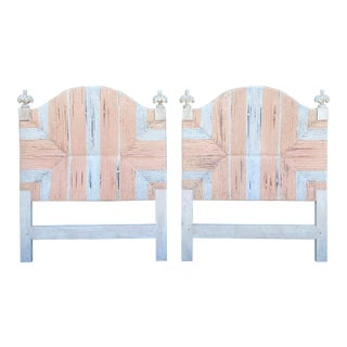 Wrapped Rush Twin Headboards - a Pair For Sale