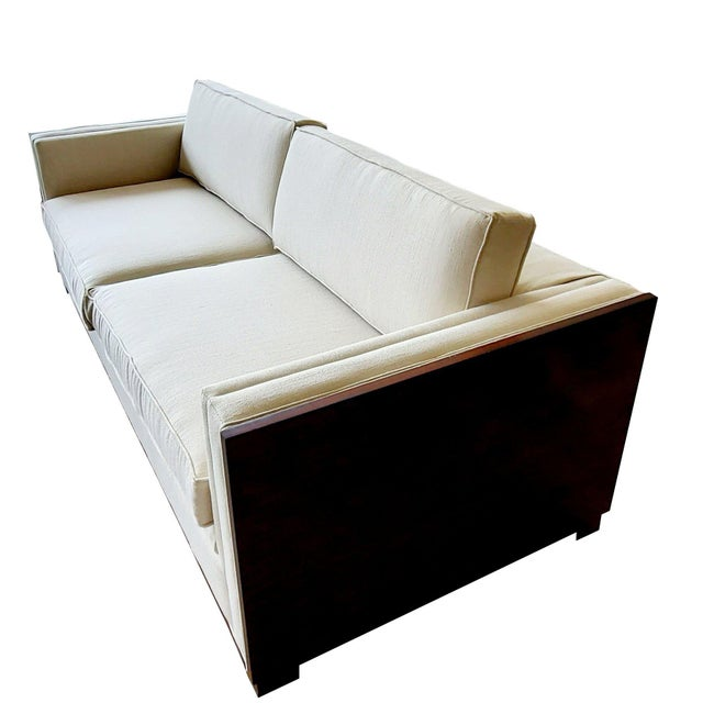 Not Yet Made - Made To Order Thomasville Furniture Ernest Hemingway Moncado Mahogany Art Deco Sofa For Sale - Image 5 of 10