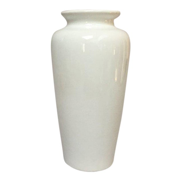 Harris Potteries Tall White Ceramic Vase Chairish