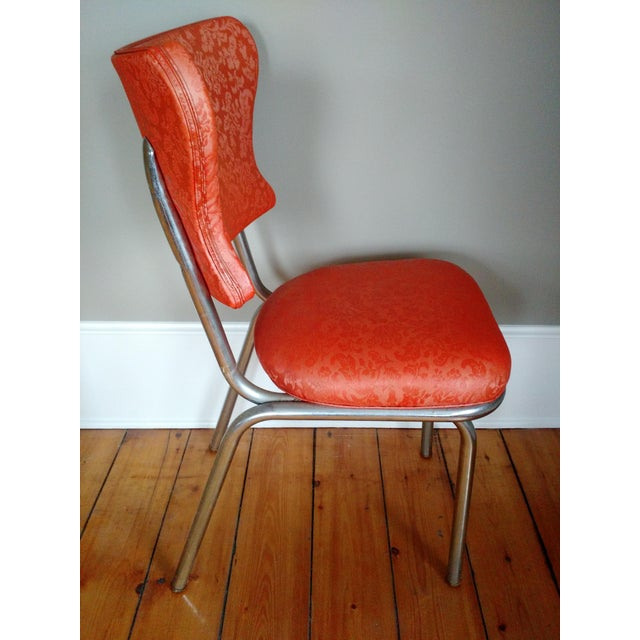 Dixie Retro 1950s Vinyl & Chrome Dining Chairs - Set of 4 For Sale - Image 4 of 10