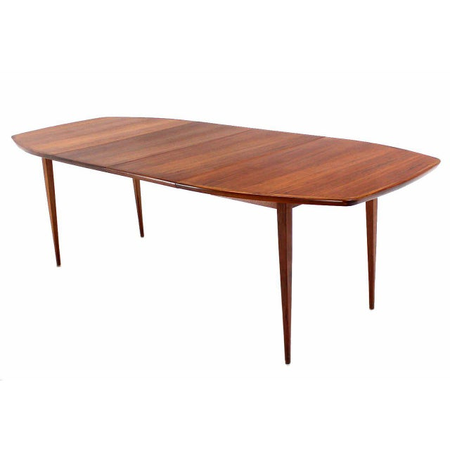 Brown Oiled Walnut Dining Table with Two Extension Board Leaves For Sale - Image 8 of 9