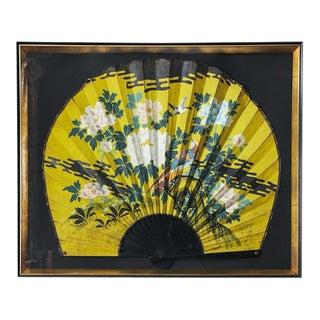 1980s Framed Japanese Fan For Sale
