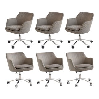 Executive Armchairs with Casters by Nicos Zographos For Sale