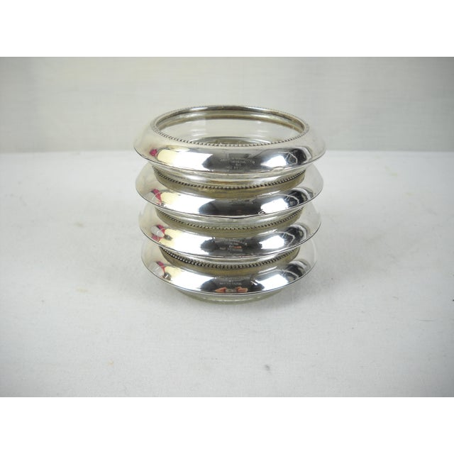 Traditional Whiting & Co. Sterling Silver Coasters - Set of 4 For Sale - Image 3 of 9